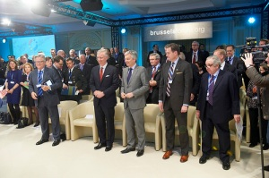The belgian King was present at Brussels Forum introduction day