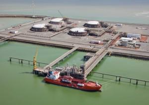 Le terminal LNG à Zeebrugge