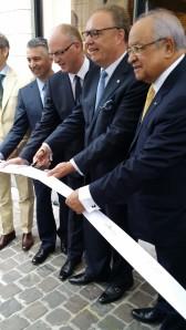 Inauguration du magasin du Sablon par le CEO H-K Hoejsgaard, de Oettinger Davidoff AG.