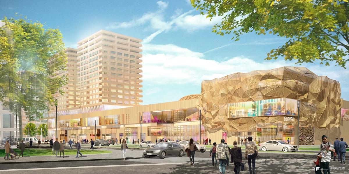Le projet « Cloche d'Or » : un projet mixte au design innovant conjuguant commerces et résidentiel premium #immobilier #luxembourg